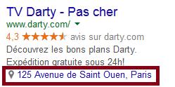 extension de lieu google