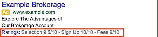 extensions d'avis de consommateurs google