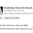 formats annonces vidéo youtube