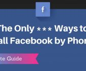 how to contact facebook phone