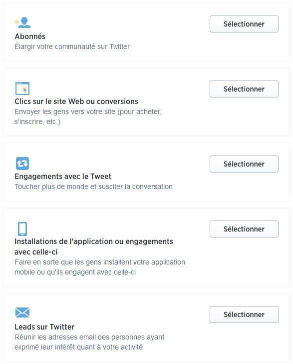 objectifs twitter