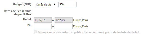 planifier campagne facebook