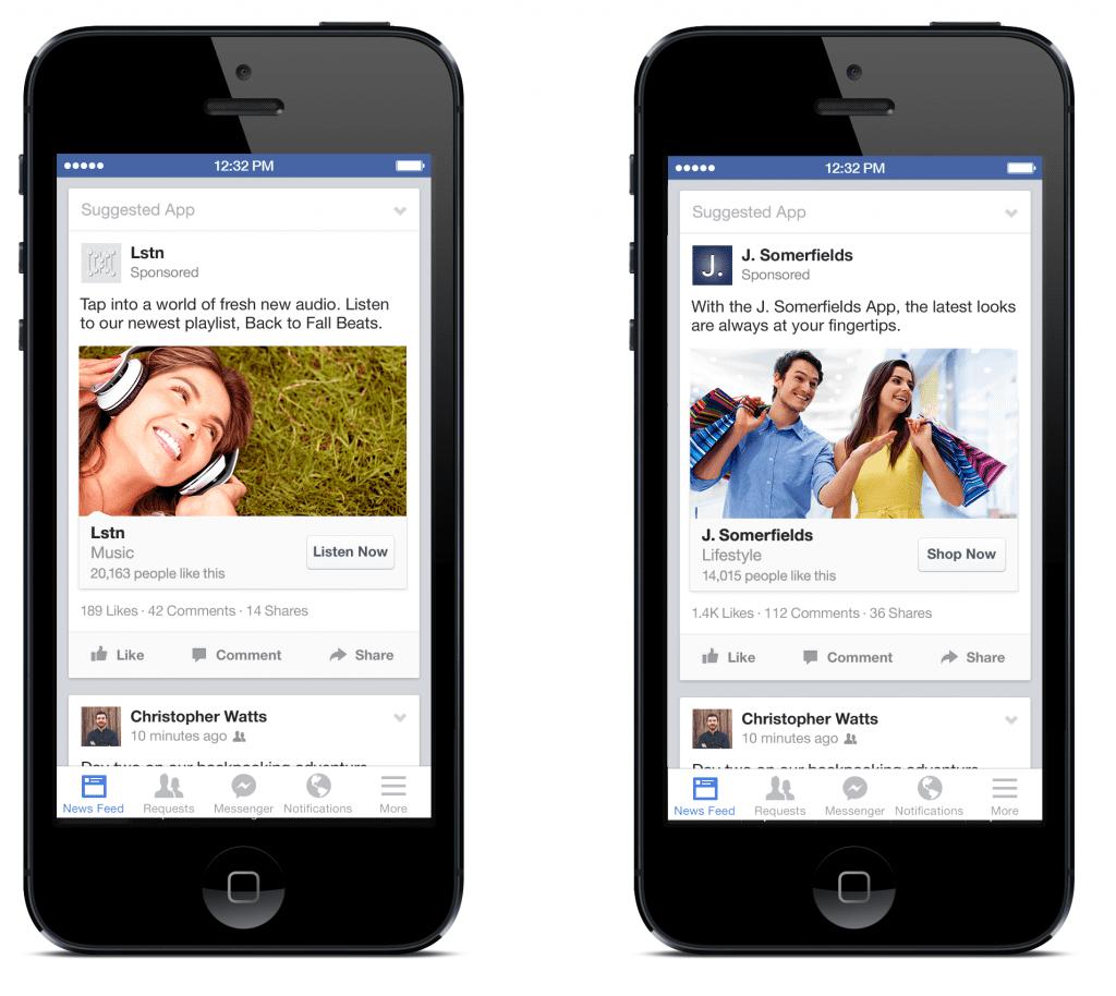 interaction application mobile facebook