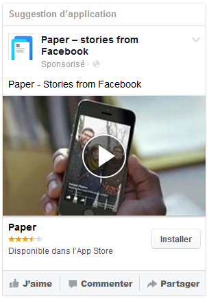 publicité facebook mobile