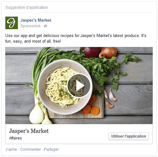 publicité facebook vidéo