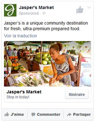 publicité locale facebook