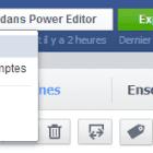 gérer les pages sur power editor
