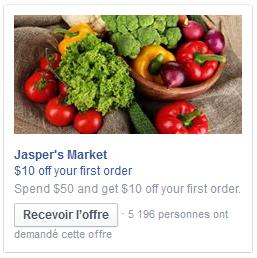 publicité offre facebook
