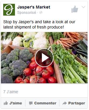 publicité vidéo facebook mobile