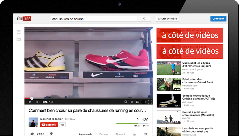 publicite youtube banniere