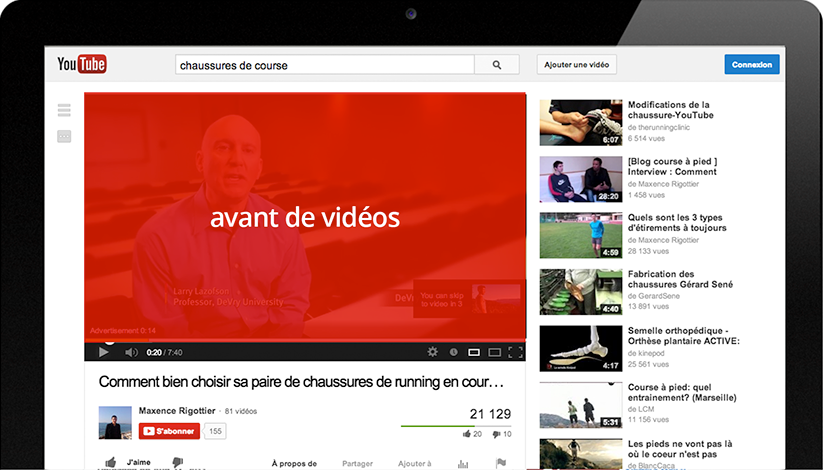 publicité youtube preroll
