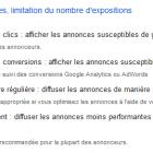 rotation annonces google