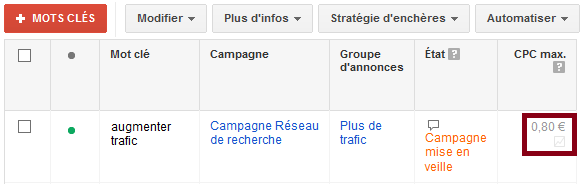 simulateur d'encheres google adwords