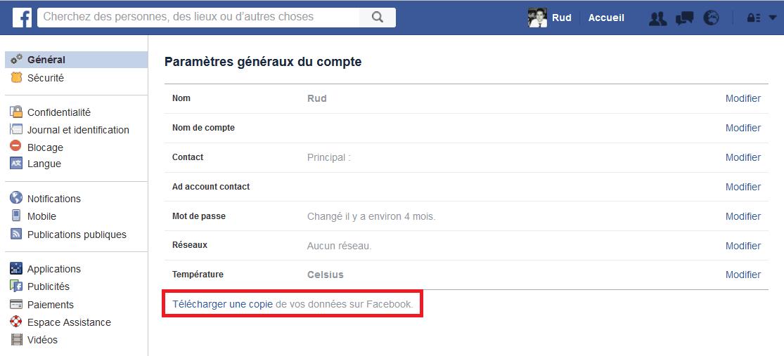 suppression facebook