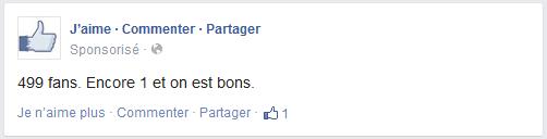 text ad facebook