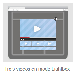 trois vidéos en mode lightbox