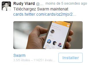 twitter publicite app mobile