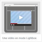 vidéo mode lightbox