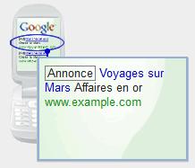 annonce google wap