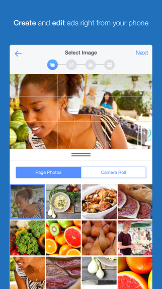 application gestionnaire publicité facebook
