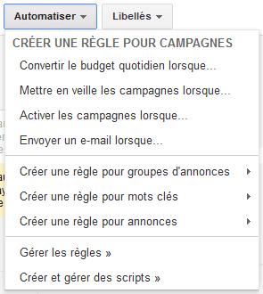 automatiser votre campagne : mise en place de règles
