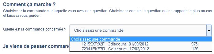 commande cdiscount