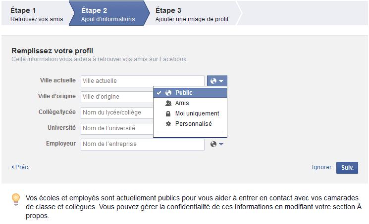 comment créer mon compte facebook