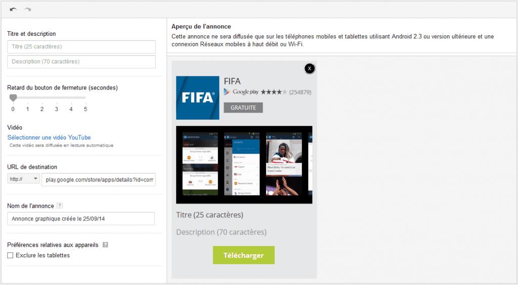 créer annonce vidéo pour promotion une application mobile