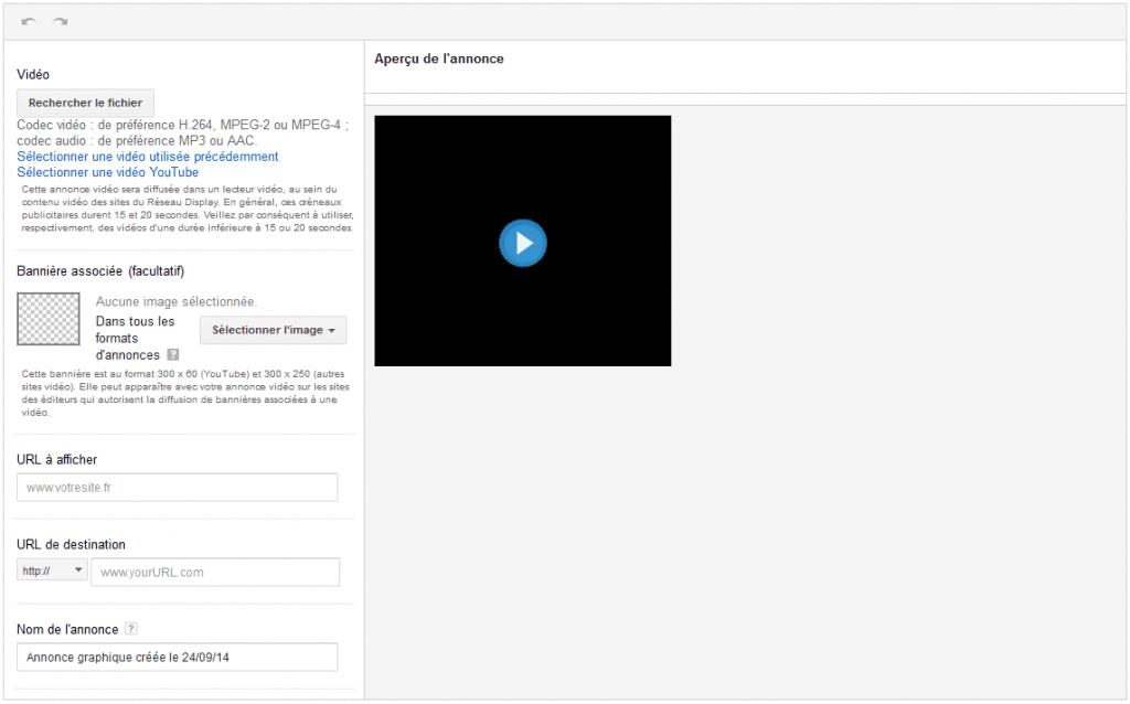 créer spot vidéo instream