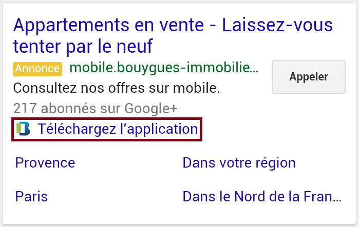 extension d'application