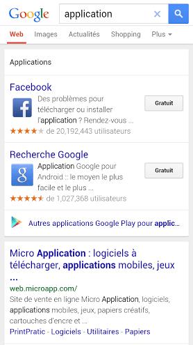 installation application mobile