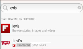 promoted search flipboard