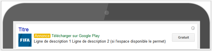 publicité adwords tablette