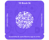 qr code application rooms facebook
