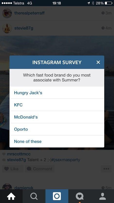 sondage instagram
