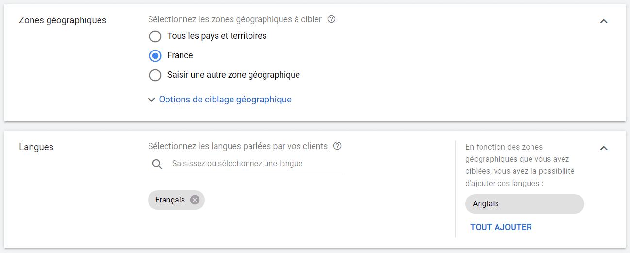 ciblage google