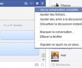 effacer message chat facebook
