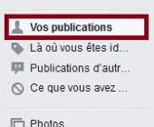 effacer publication facebook