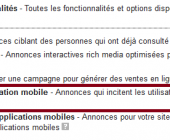 installations d'application mobile
