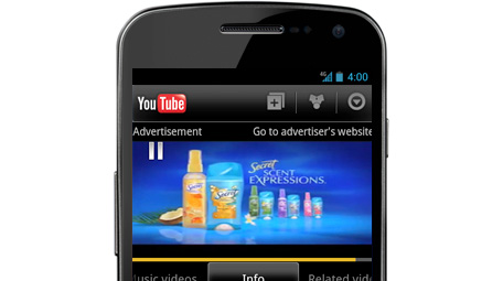 annonce instream mobile youtube