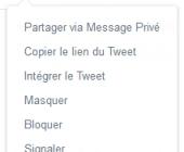 intégrer tweet twitter