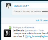 interface de publication twitter