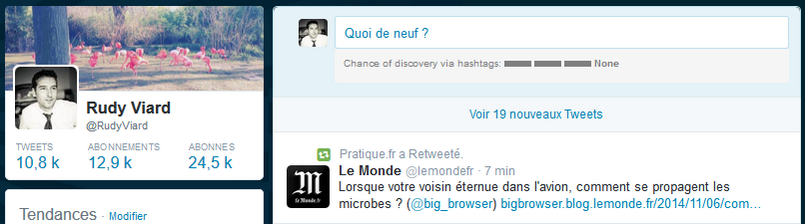 interface de publication twitter