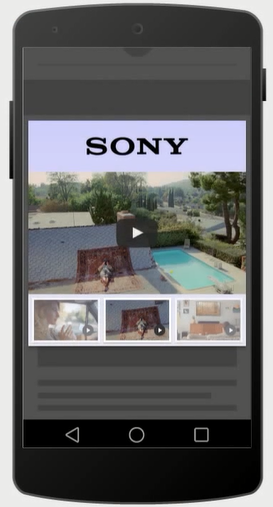 lightbox video sur mobile