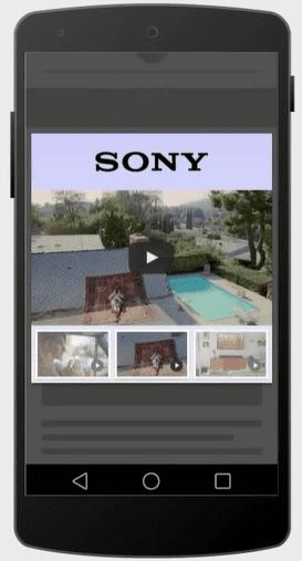 lightbox video sur mobile