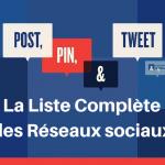 La Liste des Réseaux sociaux