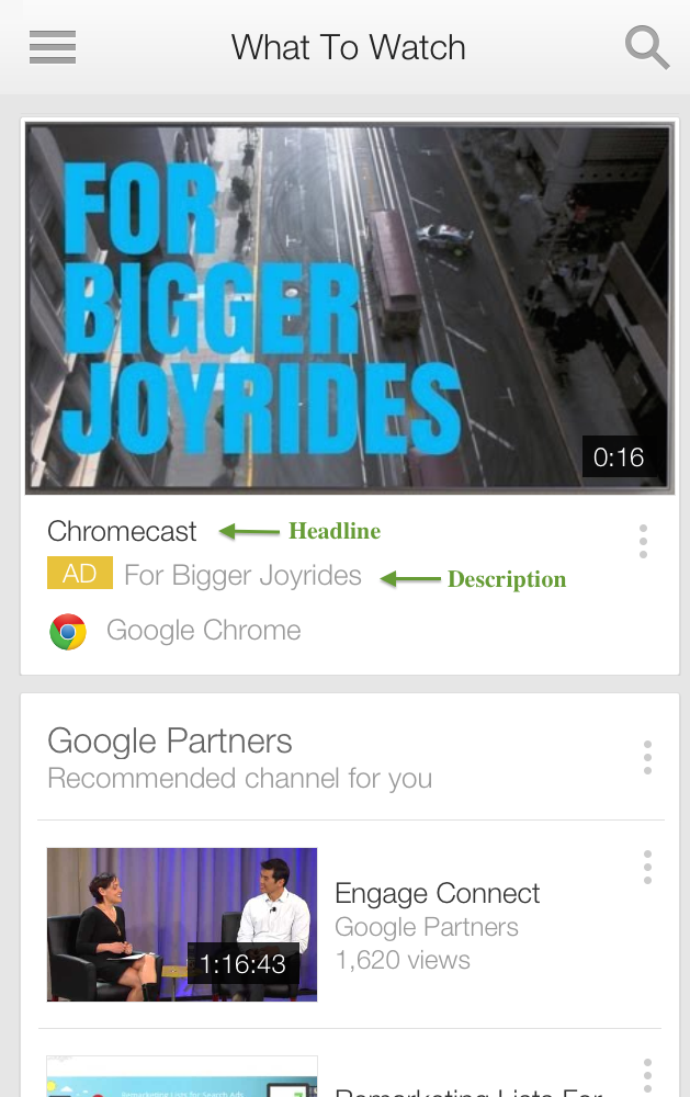 masthead youtube android