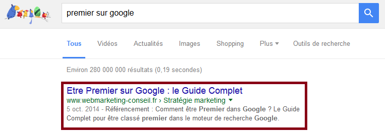 premier sur google