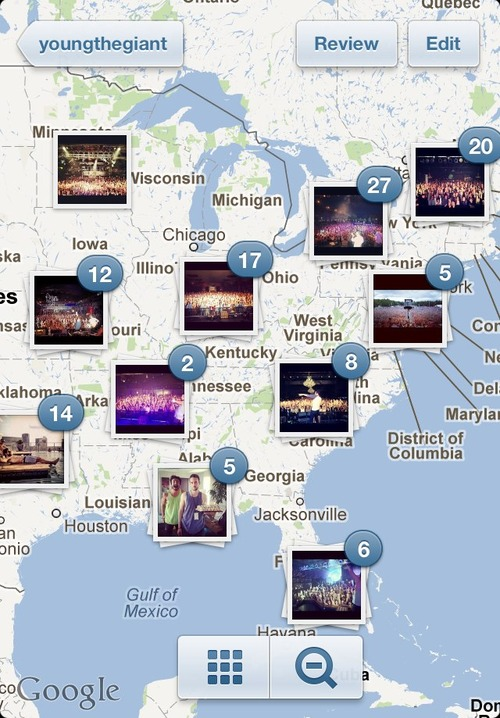 carte photo instagram