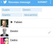 messages groupés twitter
